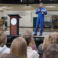 Students Have No Shortage of Questions During a Day with an Astronaut