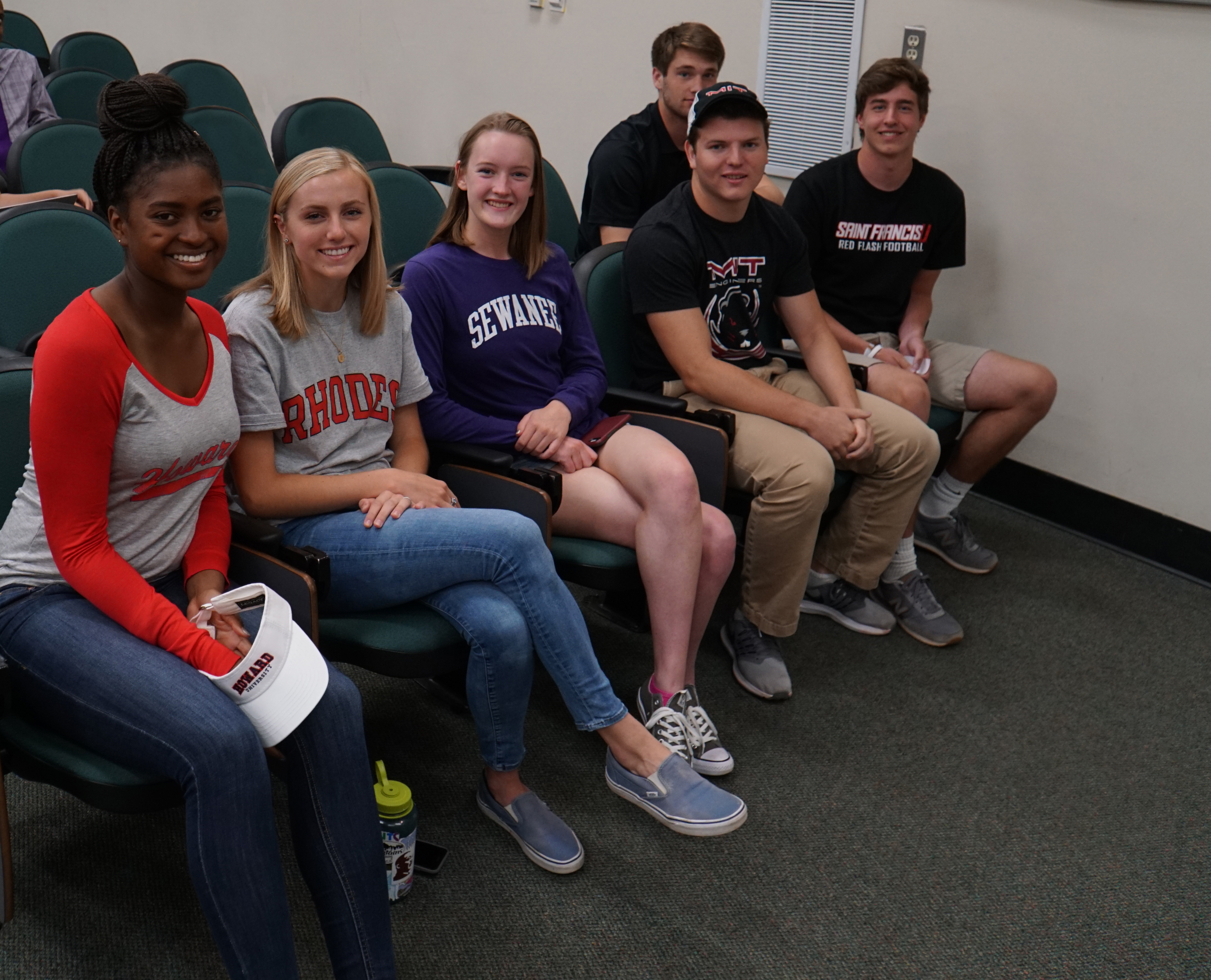 Six Country Day seniors were recognized for their college commitments on May 3