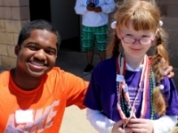 boy and girl after special olympics in NC